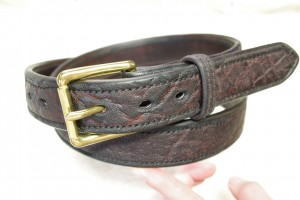 Darrell lykins - reinforced belt with elephant overlay