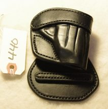Leather paddle holster for a Taurus TCP 738, right-handed