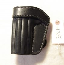 leather paddle holster for a Sig C3 1911, left-handed