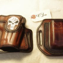 Leather High Ride holster and mag set for a Sig P228, right-handed